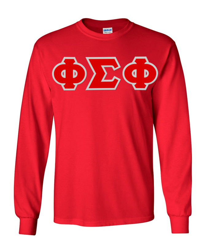Phi Sigma Phi Greek Letter Twill Long Sleeve Tee