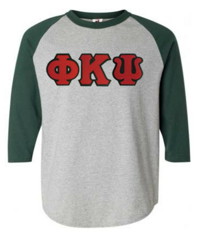 DISCOUNT- Phi Kappa Psi Lettered Raglan T-Shirt