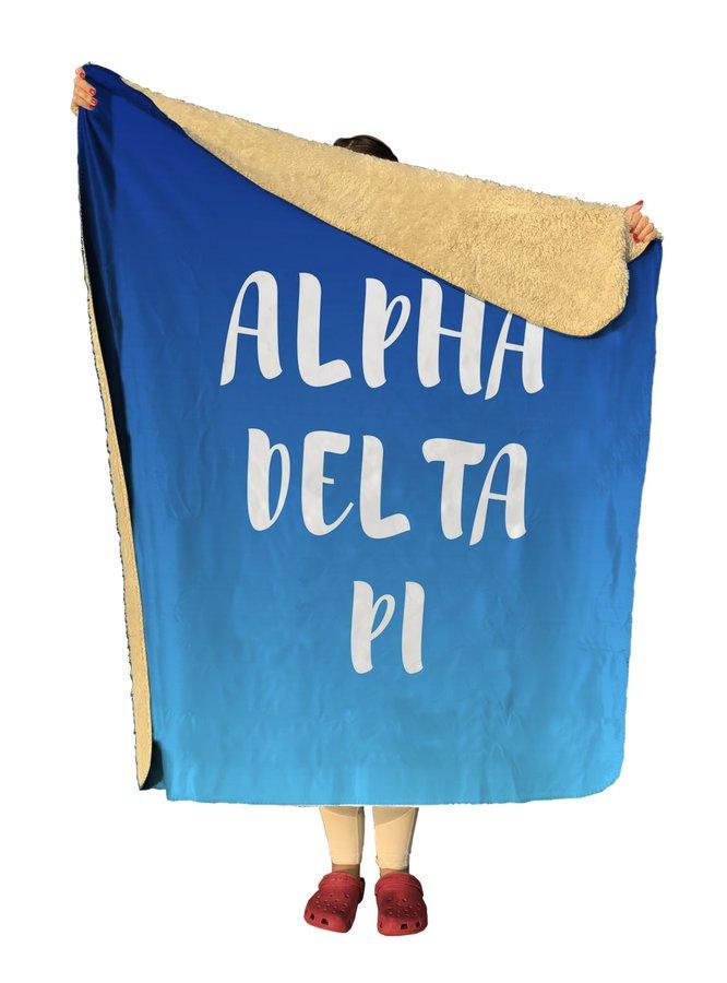 Alpha Delta Pi Gradient Sherpa Lap Blanket
