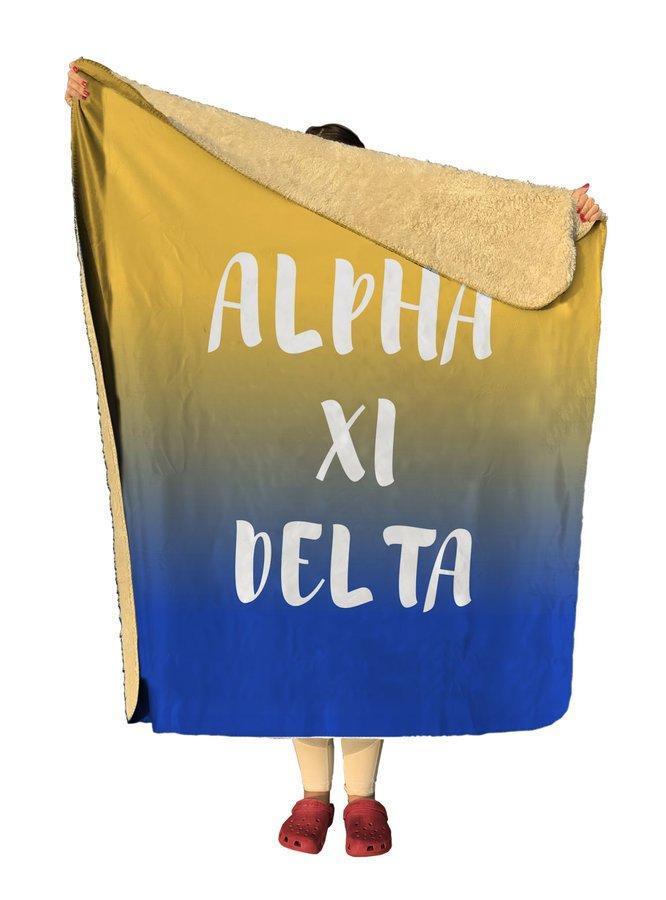 Alpha Xi Delta Gradient Sherpa Lap Blanket