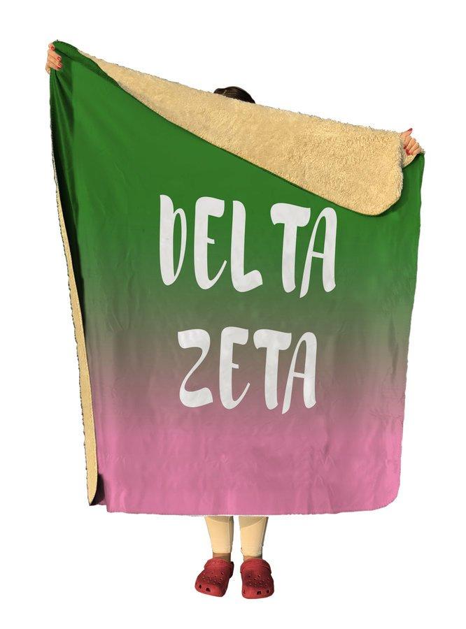 Delta Zeta Gradient Sherpa Lap Blanket