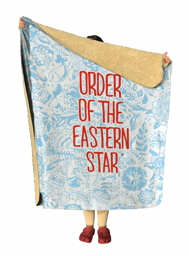 Order Of Eastern Star Floral Sherpa Lap Blanket