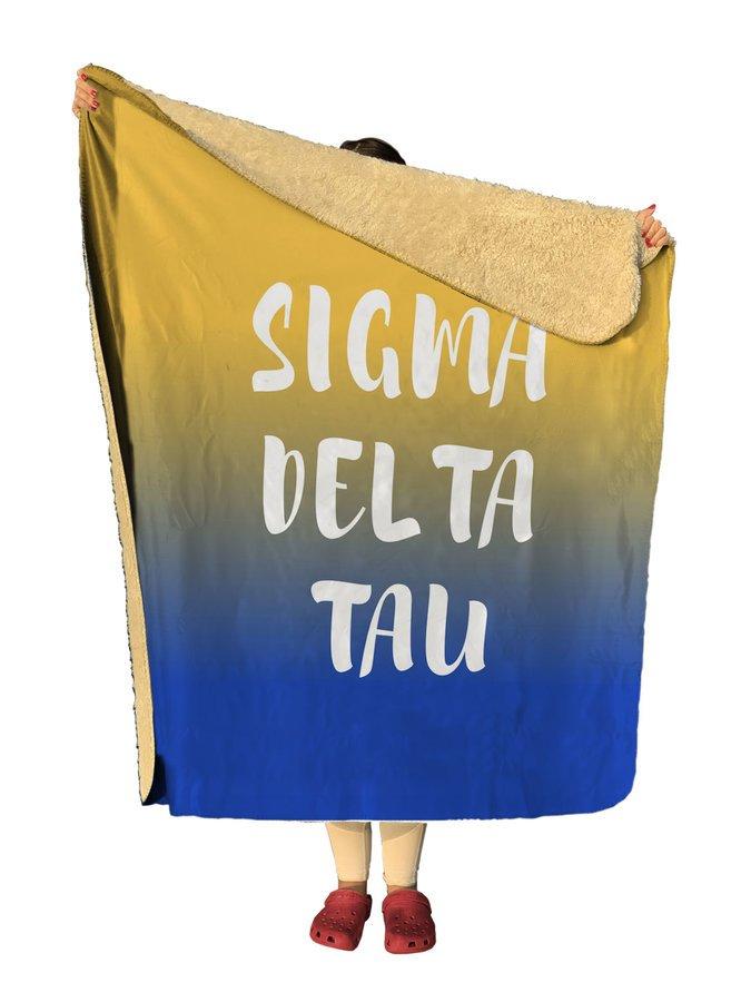 Sigma Delta Tau Gradient Sherpa Lap Blanket