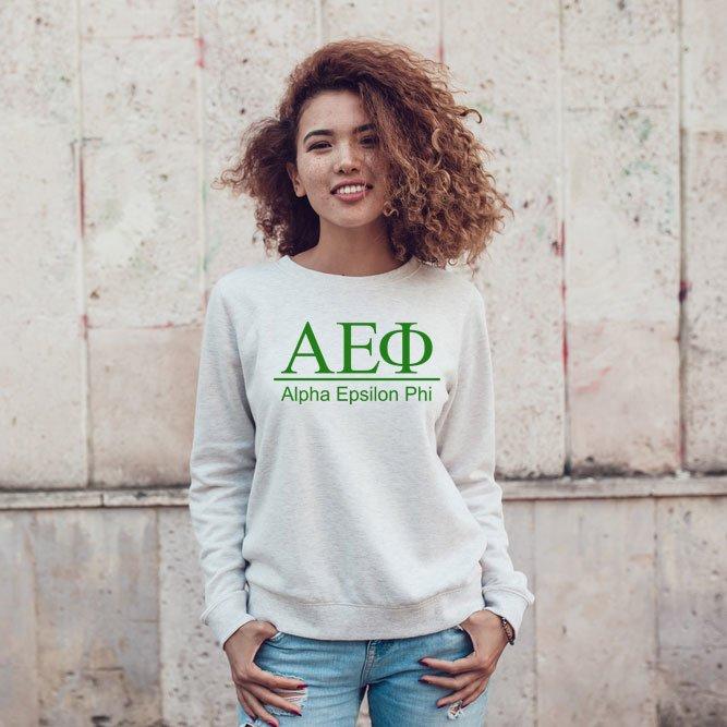 Alpha Epsilon Phi Message Crewneck Sweatshirts