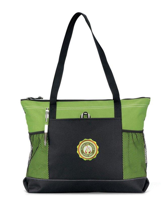 DISCOUNT-Alpha Chi Omega Emblem Tote Bag