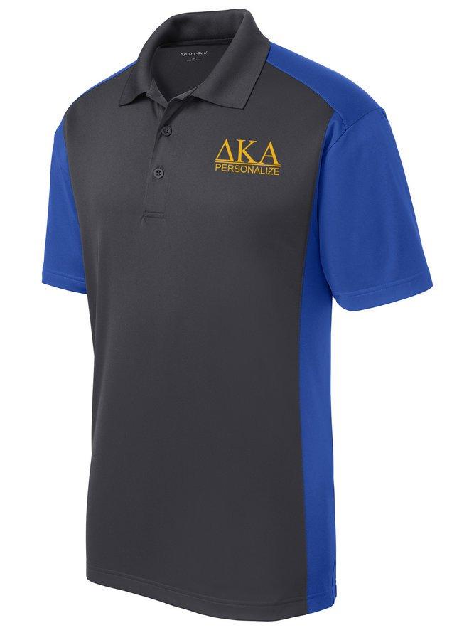 Delta Kappa Alpha- $30 World Famous Greek Colorblock Wicking Polo