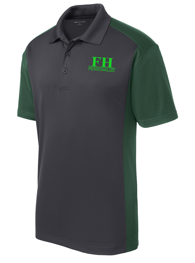 FarmHouse Fraternity- $30 World Famous Greek Colorblock Wicking Polo
