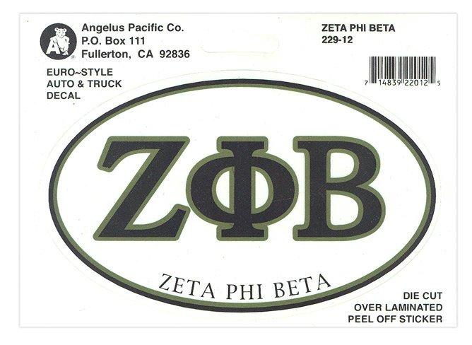 Zeta Phi Beta Euro Style Sticker