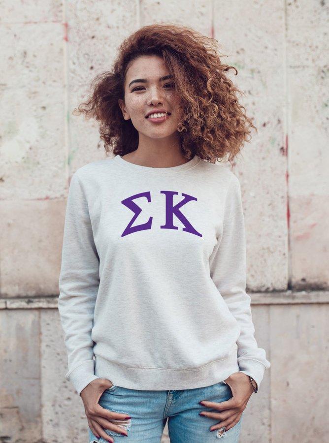 Sigma Kappa Arched Greek Lettered Crewneck Sweatshirt