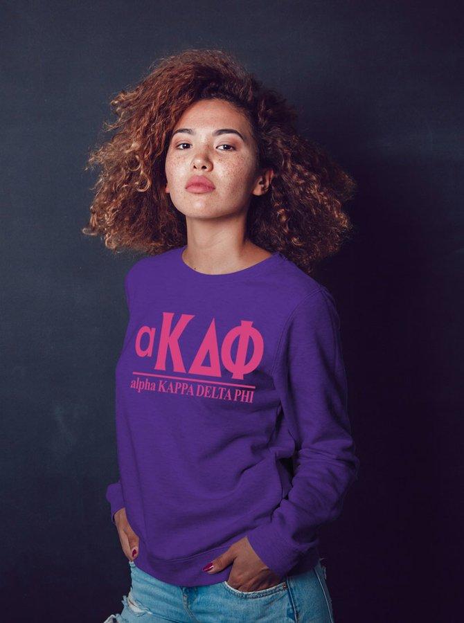 alpha Kappa Delta Phi Message Crewneck Sweatshirts