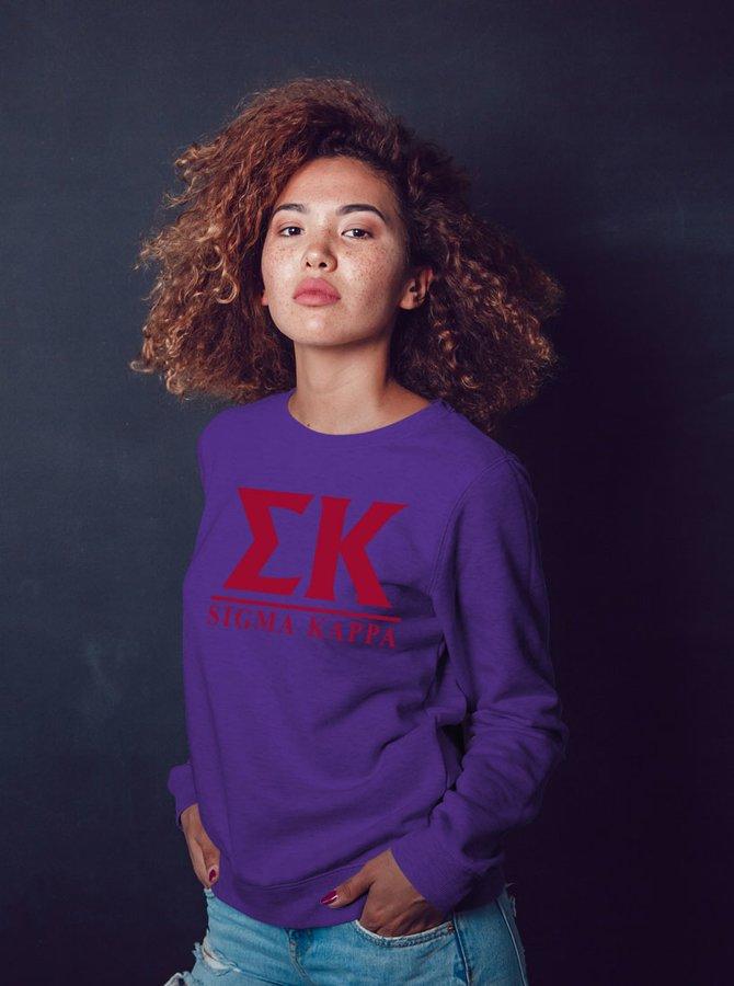 Sigma Kappa Message Sweatshirts