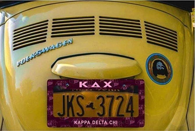 Kappa Delta Chi New License Plate Frame