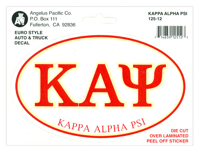 Kappa Alpha Psi Euro Decal Oval Sticker