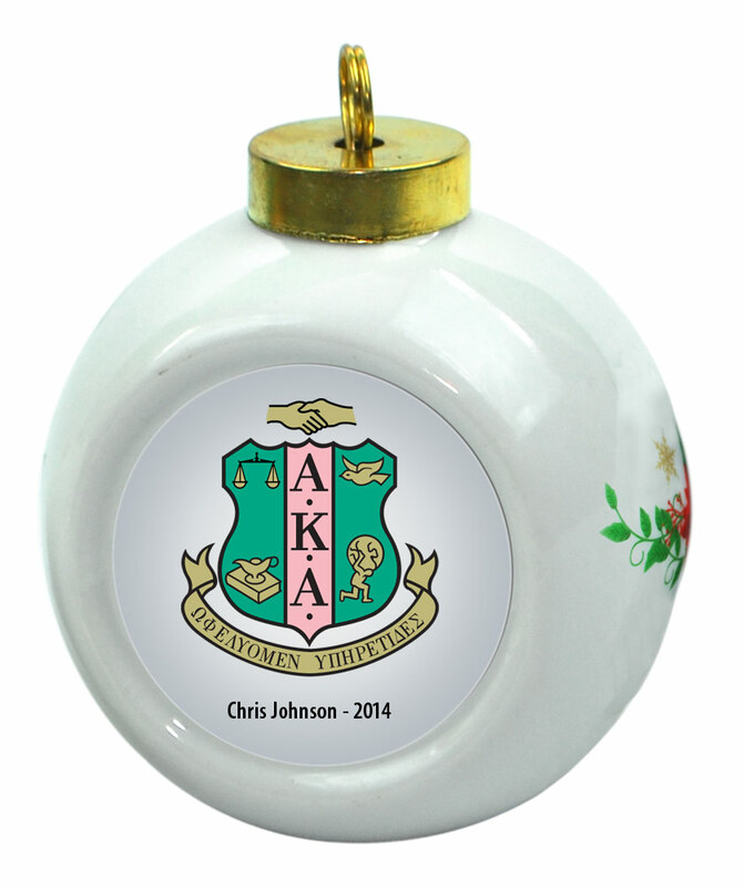 Alpha Kappa Alpha Christmas Ornaments