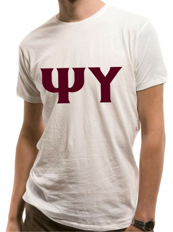 Psi Upsilon Lettered Shirt