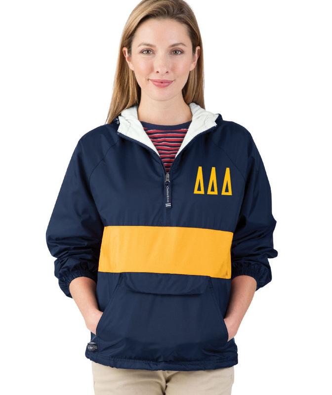 Delta Delta Delta Fabulous Font Pullover Anorak