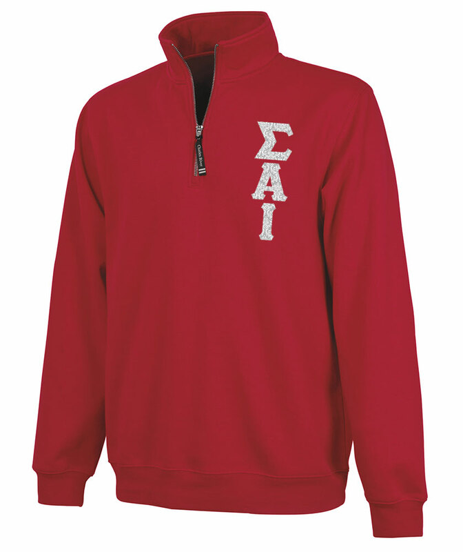 Sigma Alpha Iota Crosswind Quarter Zip Twill Lettered Sweatshirt
