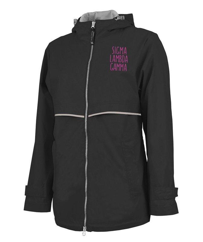 Sigma Lambda Gamma New Englander Nickname Rain Coat