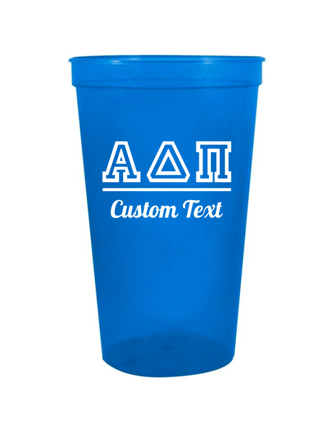 Alpha Delta Pi Custom Greek Collegiate Stadium Cup