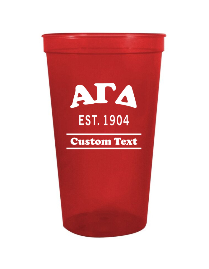 Alpha Gamma Delta Custom Greek Cooper Stadium Cup