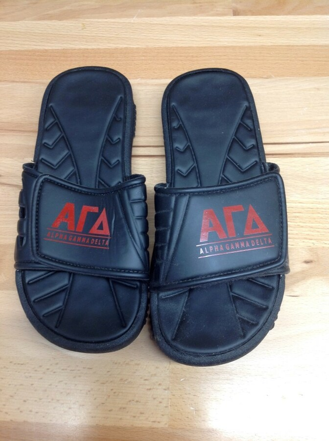 Super Savings - Alpha Gamma Delta Slides - Black - Size 10