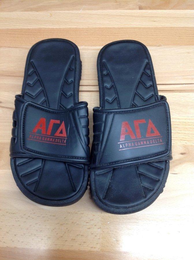 Super Savings - Alpha Gamma Delta Slides - Black - Size 7 - 2 of 5