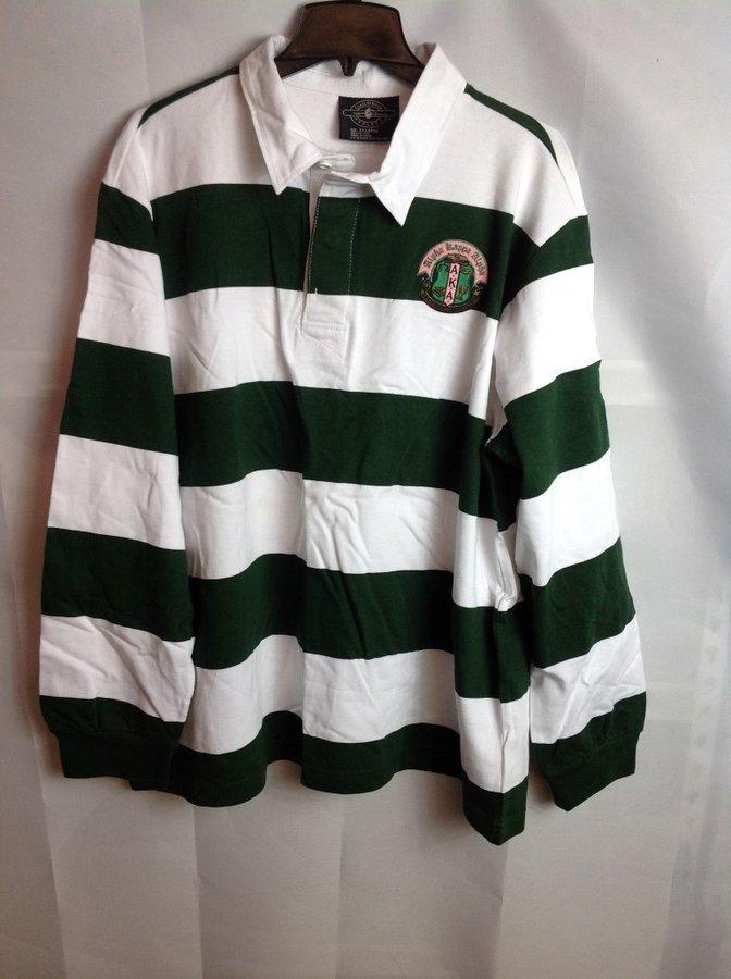 Super Savings - Alpha Kappa Alpha Rugby Shirt - Green - White