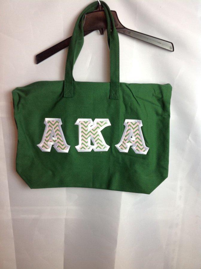 Super Savings - Alpha Kappa Alpha Tote Bag - Forest Green