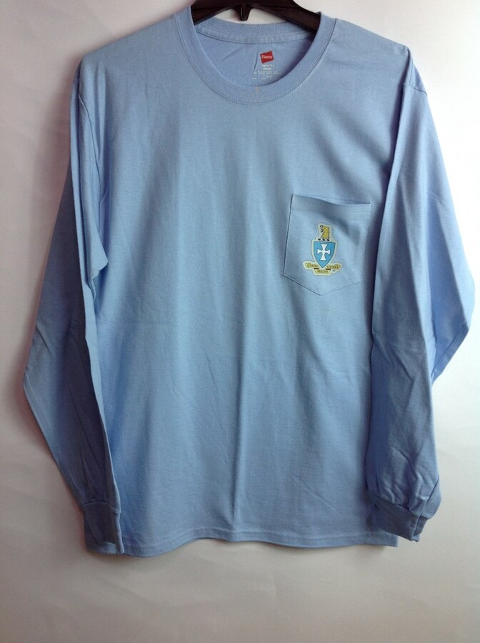 Super Savings - Sigma Chi Crest - Shield Long Sleeve Tee 4 of 9 - LT BLUE