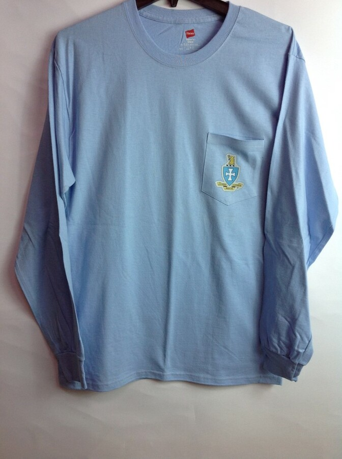 Super Savings - Sigma Chi Crest - Shield Long Sleeve Tee 6 of 9 - LT BLUE