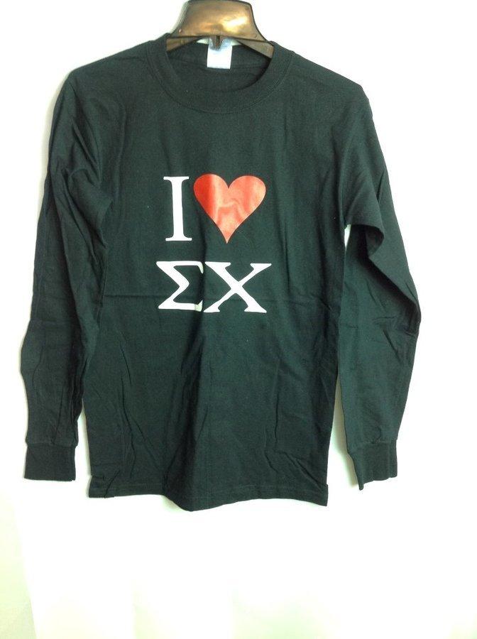 Super Savings - Sigma Chi I Love T-Shirt - Black