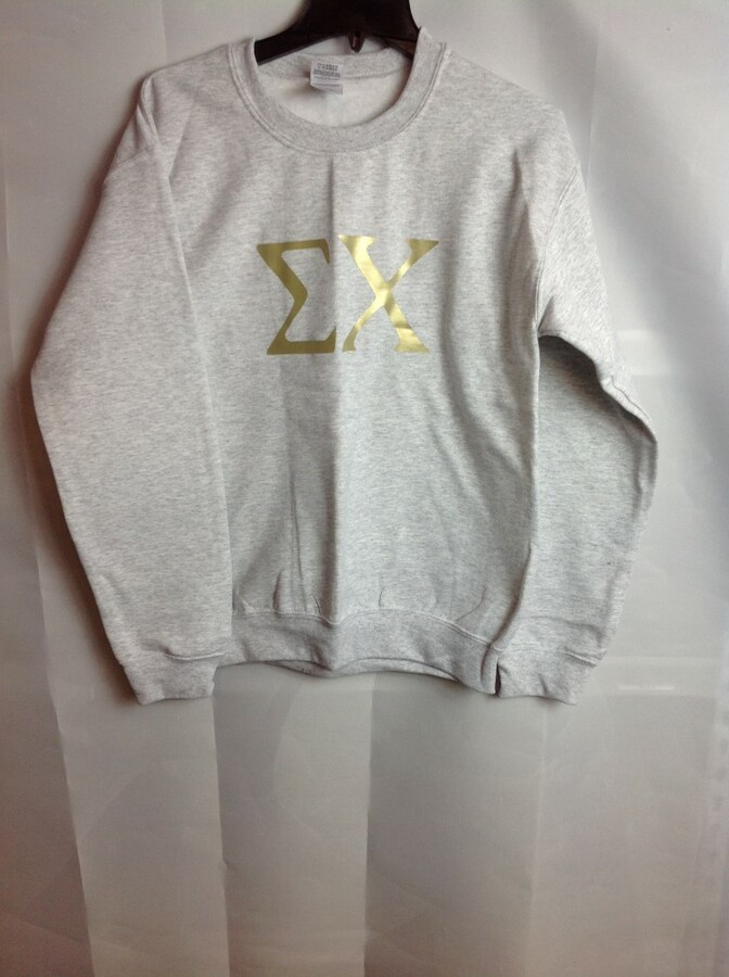 Super Savings - Sigma Chi World Famous Greek Crewneck - Gray