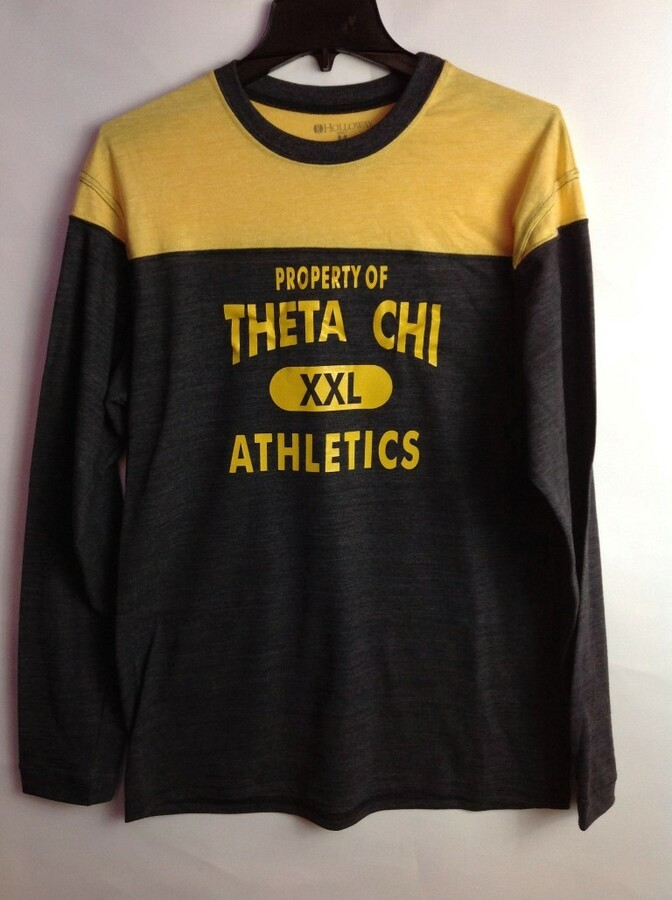Super Savings - Theta Chi Property Of Barrier Shirt - GREY GOLD