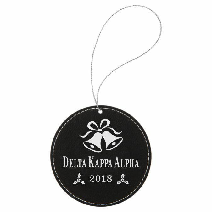 Delta Kappa Alpha Leatherette Holiday Ornament
