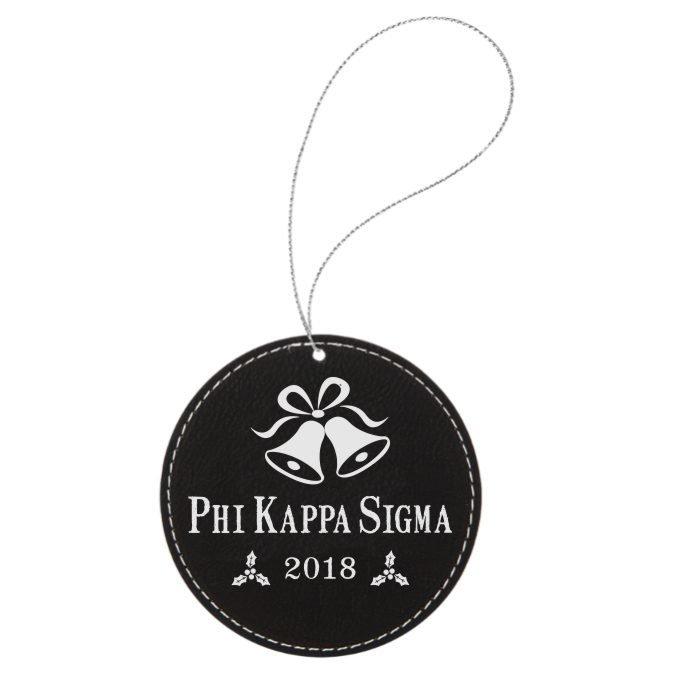 Phi Kappa Sigma Leatherette Holiday Ornament