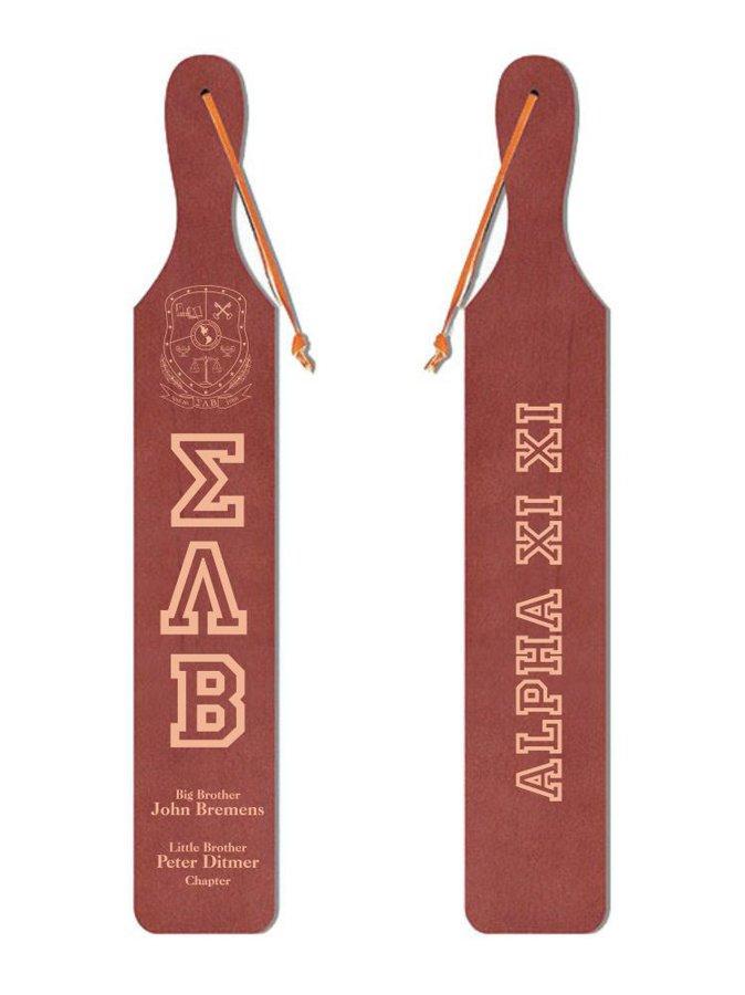Sigma Lambda Beta Old School Wood Greek Paddle