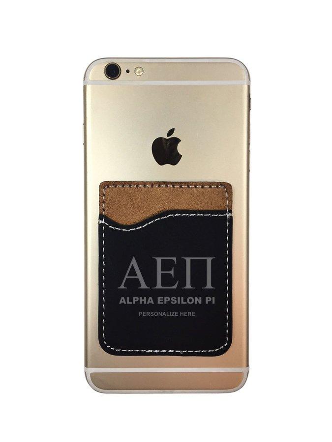Alpha Epsilon Pi Leatherette Phone Wallet
