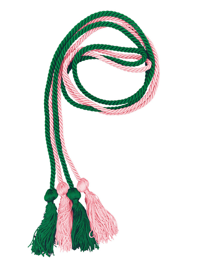 Alpha Kappa Alpha Greek Graduation Honor Cords