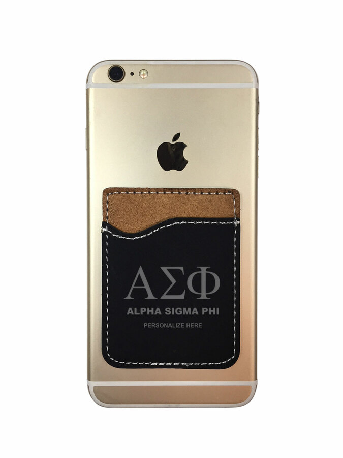 Alpha Sigma Phi Leatherette Phone Wallet