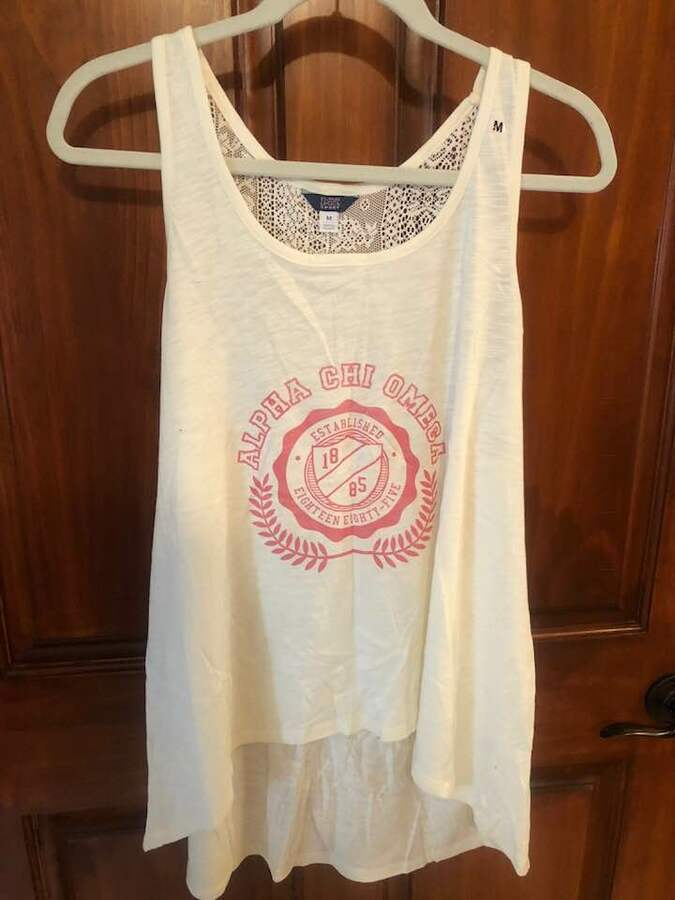 New Super Savings - Alpha Chi Omega Tank Top - WHITE