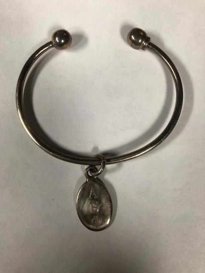 New Super Savings - Alpha Epsilon Phi Oval Charm Bracelet - SILVER