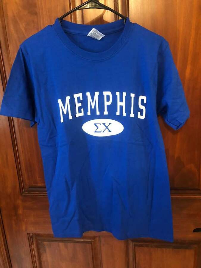 New Super Savings - Sigma Chi State T-Shirt - BLUE in size S