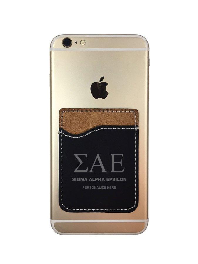 Sigma Alpha Epsilon Leatherette Phone Wallet