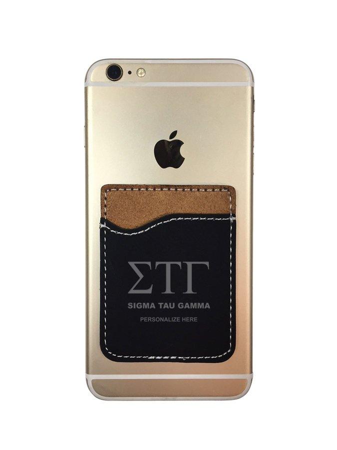 Sigma Tau Gamma Leatherette Phone Wallet