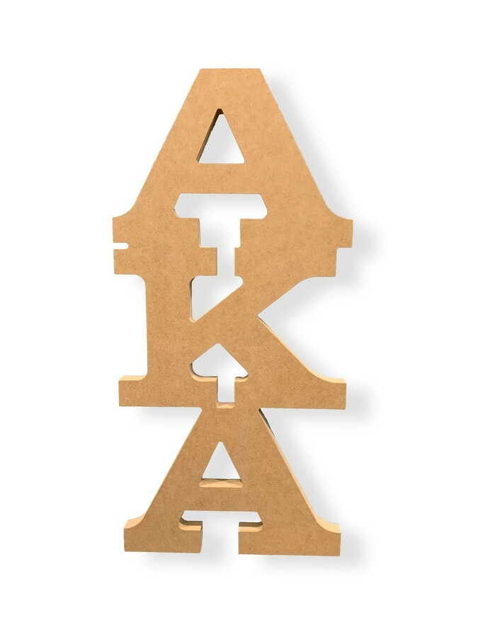 Sorority MDF Connected Giant Letters