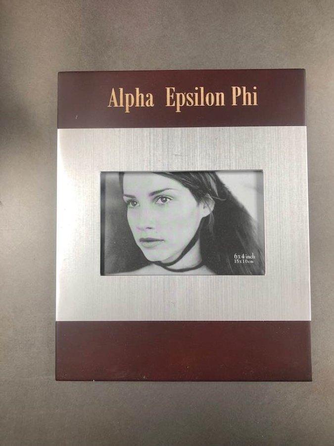 Super Savings - Alpha Epsilon Phi Picture Frame - RED WOOD
