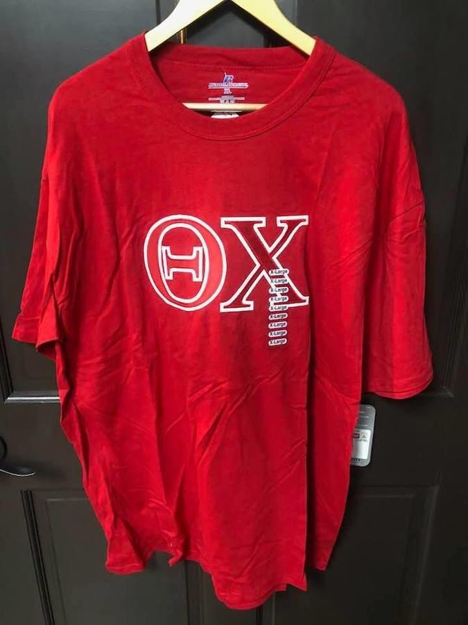 Super Savings - Theta Chi Lettered T-Shirt - RED