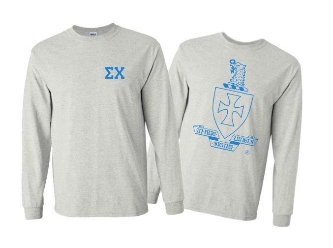 Sigma Chi World Famous Crest - Shield Long Sleeve T-shirts- $19.95!