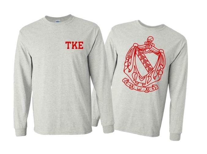 Tau Kappa Epsilon World Famous Crest - Shield Long Sleeve T-Shirts- $19.95!