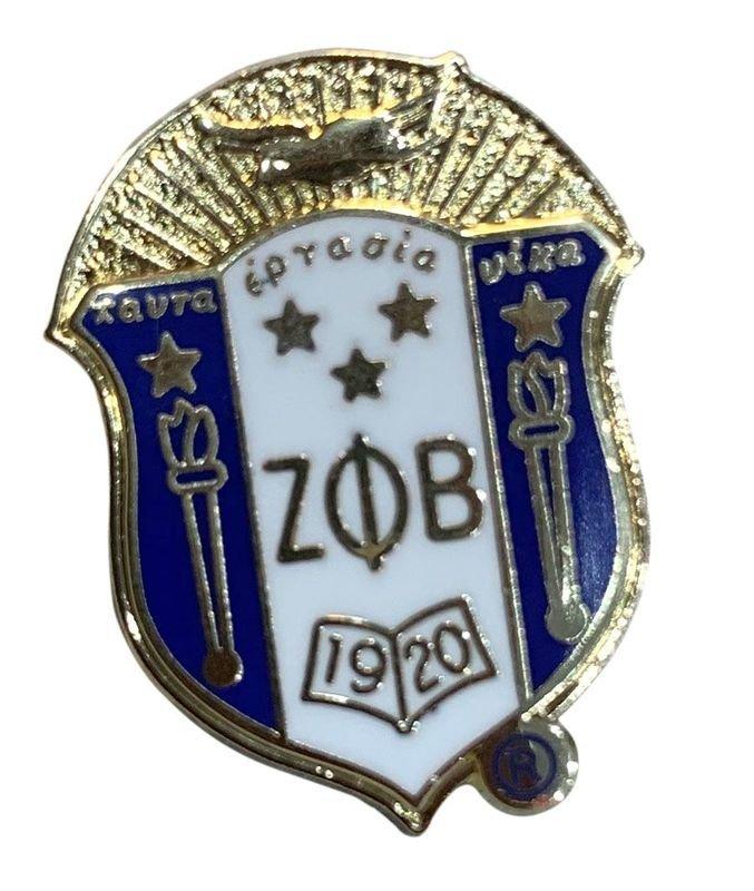 Zeta Phi Beta 3D Color Shield Pin